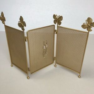 Earring Organizer Gold with Sequined Butterflies